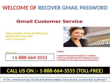 For Any Problem In Gmail, You Can Call At +1-888-664-3555 (toll-free) Our Gmail tech support number