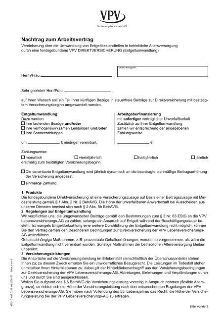 Nachtrag Zum Arbeitsvertrag Verlängerung Anadolufotografdernegi