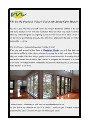 Why Do We Overlook Window Treatments during Open House?