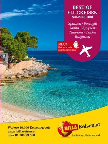 ITS Billa Reisen Sommerkatalog 2018 Flugreisen Mittelmeer, Schwarzes Meer & Rotes Meer