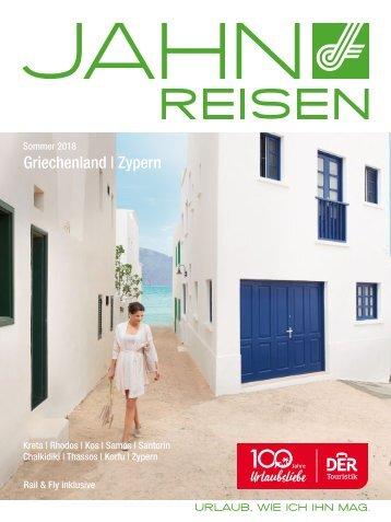 Jahn Reisen Austria Sommerkatalog 2018 Griechenland & Zypern