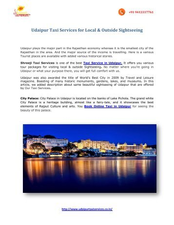 udaipur local & sightseeing