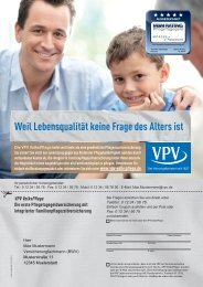 Weil Lebensqualität keine Frage des Alters ist - VPV Makler