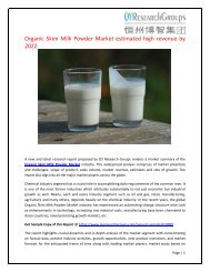 Global Organic Skim Milk Powder Market Research Report 2017