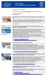 Newsletter September 2010 (PDF) - VPV Makler