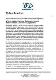 VPV Service-Innovationspreis - VPV Makler