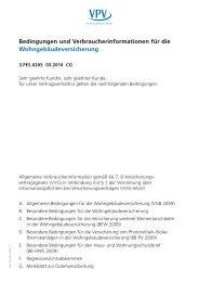 Bedingungen und Verbraucherinformationen für die ...