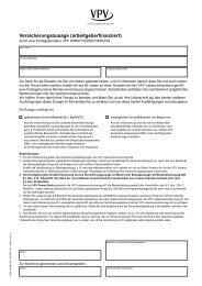 Versicherungszusage (arbeitgeberfinanziert) - VPV Makler