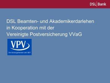 Vertriebsinfo und Produktbeschreibung Beamten - VPV Makler