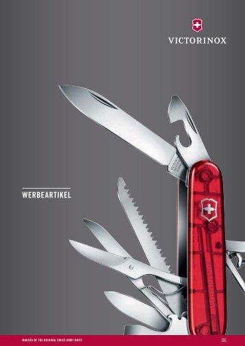 Victorinox Messer, Werkzeuge als individuelles Werbemittel und hochwertiges Kundengeschenk, Mitarbeitergeschenk