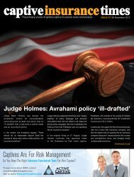 Captive Insurance Times issue 137
