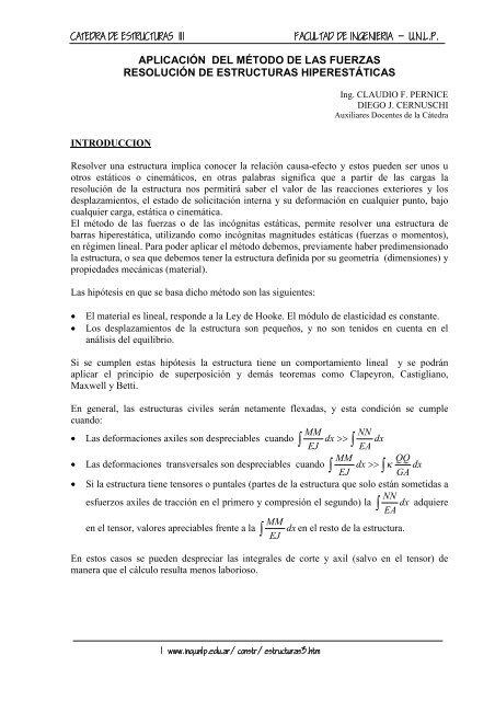 09 Metodo De Las Fuerzas Resol De Estruc Hiperestaticas
