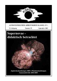 Supernovae - didaktisch betrachtet - Sternwarte Calden Kassel