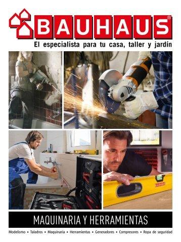 BAUHAUS Catálogo Especial Maquinaria hasta 1 de Abril 2018