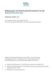 Bedingungen und Verbraucherinformationen für die Elektronik ...