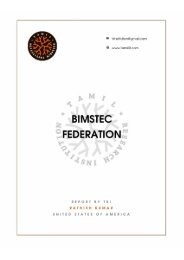 BIMSTEC Federation Report by TRI