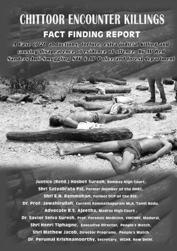 Semmaram Encounter Killings Fact Finding Report2