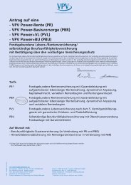 VPV Power-Basisvorsorge (PBR) - VPV Power+VL - VPV Makler