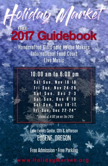 Holiday market 2017 Guidebook