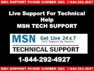 MSN Customer Service  +1-844-292-4927 | MSN Toll Free Helpline USA
