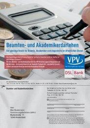 Beamten- und Akademikerdarlehen - VPV Makler