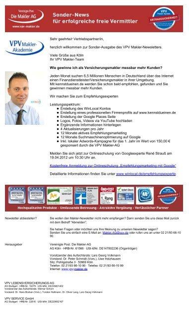 Sonder-Newsletter 10. April 2012 (PDF) - VPV Makler