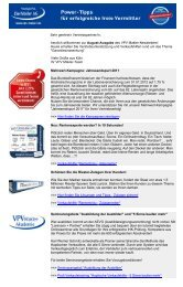 Newsletter August 2011 - VPV Makler
