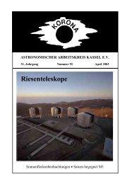 Riesenteleskope - Sternwarte Calden Kassel