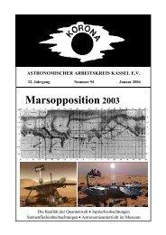 Marsopposition 2003 - Sternwarte Calden Kassel