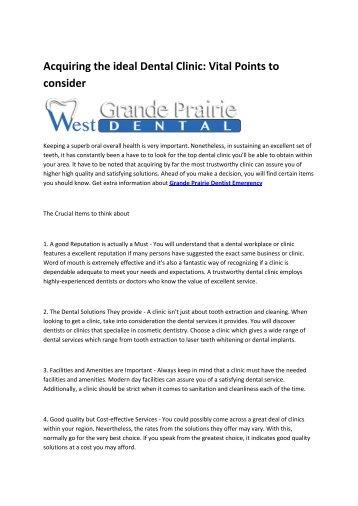 emergency dentist Grande Prairie Alberta