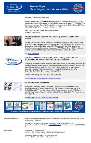 Newsletter Februar 2011 (PDF) - VPV Makler