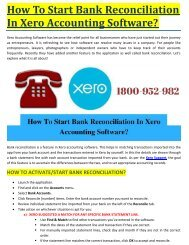 HOW TO START BANK RECONCILIATION IN XERO ACCOUNTING SOFTWARE