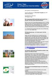 Newsletter November 2009 (PDF) - VPV Makler