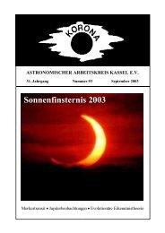 Sonnenfinsternis 2003 - Sternwarte Calden Kassel