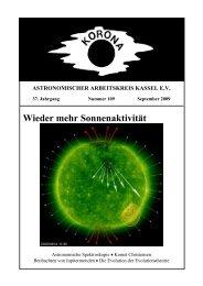 Wieder mehr Sonnenaktivität - Sternwarte Calden Kassel