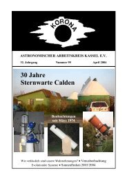 30 Jahre Sternwarte Calden - Sternwarte Calden Kassel