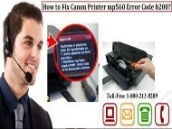 by 1-800-213-8289 Fix Canon Printer mp560 Error Code b200