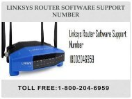 18442003971 Linksys Router Software Support Number
