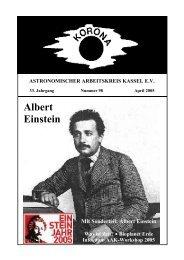 Albert Einstein - Sternwarte Calden Kassel
