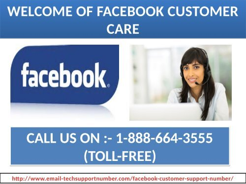 Problems in chatting on Facebook? Dial 1-888-664-3555 our toll-free Facebook customer care number
