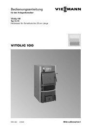VITOLIG 100 Bedienungsanleitung - Viessmann