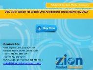 Oral Antidiabetic Drugs Market, 2016 – 2022