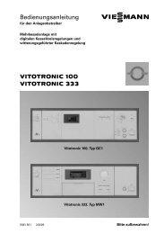VITOTRONIC 100 VITOTRONIC 333 ... - Viessmann