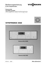 VITOTRONIC 050 Bedienungsanleitung - Viessmann