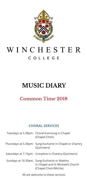Music Diary Common Time 2018