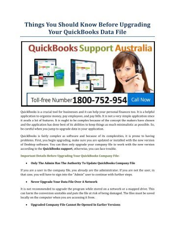 Things You Should Know Before Upgrading Your QuickBooks Data File