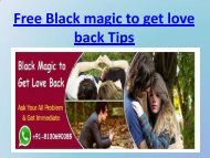 Free Black magic to get love back Tips