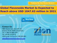 Global Flavonoids Market, 2016 – 2021