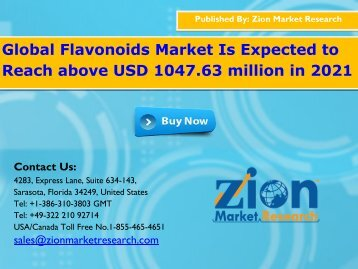 Global Flavonoids Market, 2016 – 2021