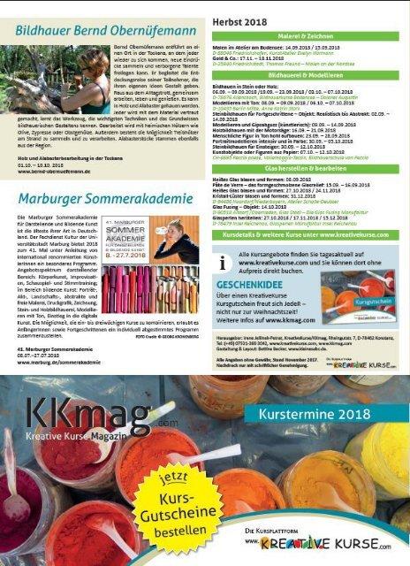 KKmag KreativeKurse Magazin 2018